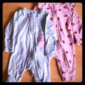 Newborn Footless Onezies Set